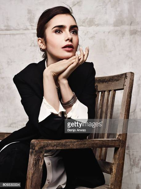 Actress Lily Collins for The Wrap on December 15 2016 in Los Angeles California
