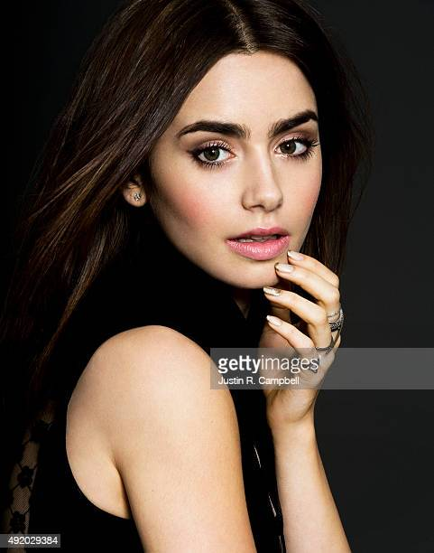 Actress Lily Collins is photographed for Just Jared on August 9 2013 in Los Angeles California