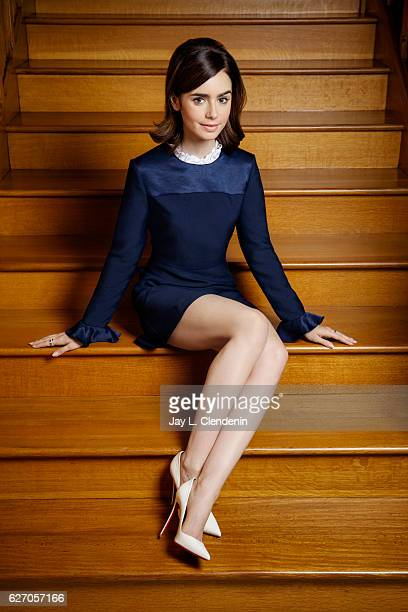 Actress Lily Collins is photographed for Los Angeles Times on November 4 2016 in Los Angeles California PUBLISHED IMAGE CREDIT MUST READ Jay L...