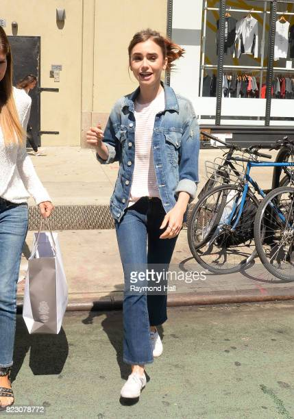Actress Lily Collins is seen walking in Soho on July 26 2017 in New York City