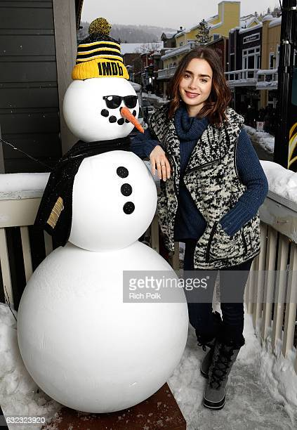 Actress Lily Collins of To The Bone attends The IMDb Studio featuring the Filmmaker Discovery Lounge presented by Amazon Video Direct Day Two during...
