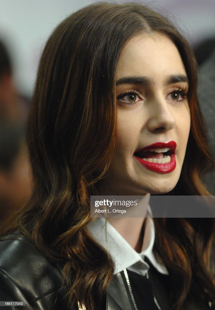 Actress Lily Collins participates at WonderCon Anaheim 2013 - Day 2 at Anaheim Convention Center on March 30, 2013 in Anaheim, California.