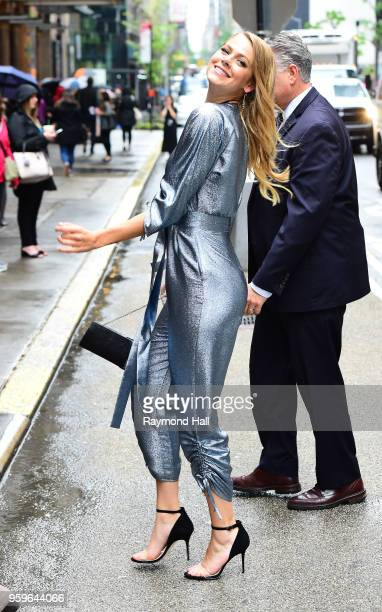 Actress Lily Cowles is seen walking in midtown on May 17 2018 in New York City