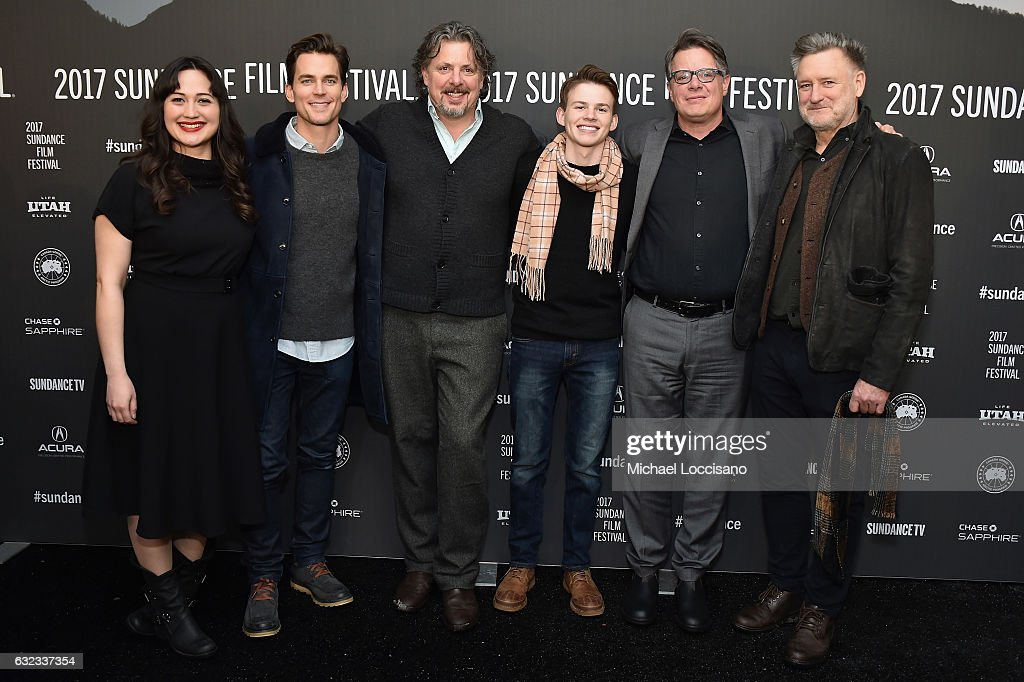 Actress Lily Gladstone, Actor Matt Bomer, Director Alex Smith, Actor Josh Wiggins, Director Andrew Smith and Actor Bill Pullman attend the 'Walking Out' premiere on day 3 of the 2017 Sundance Film Festival at Library Center Theater on January 21, 2017 in Park City, Utah.