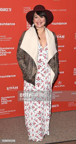 Actress Lily Gladstone attends the 'Certain Women' Premiere during the 2016 Sundance Film Festival at Eccles Center Theatre on January 24 2016 in...