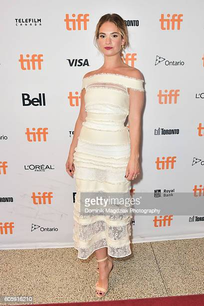 Actress Lily James attends the 'The Exception' premiere during the 2016 Toronto International Film Festival at The Elgin on September 15 2016 in...