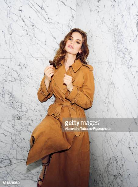 Actress Lily James is photographed for Madame Figaro on July 3 2017 in Paris France Trench PUBLISHED IMAGE CREDIT MUST READ Alexandre...