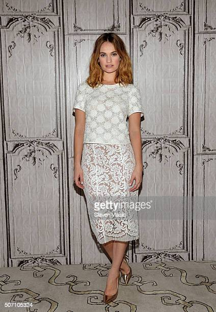 Actress Lily James visits AOL Build to discuss her role in the upcoming film Pride and Prejudice and Zombies at AOL Studios In New York on January 27...