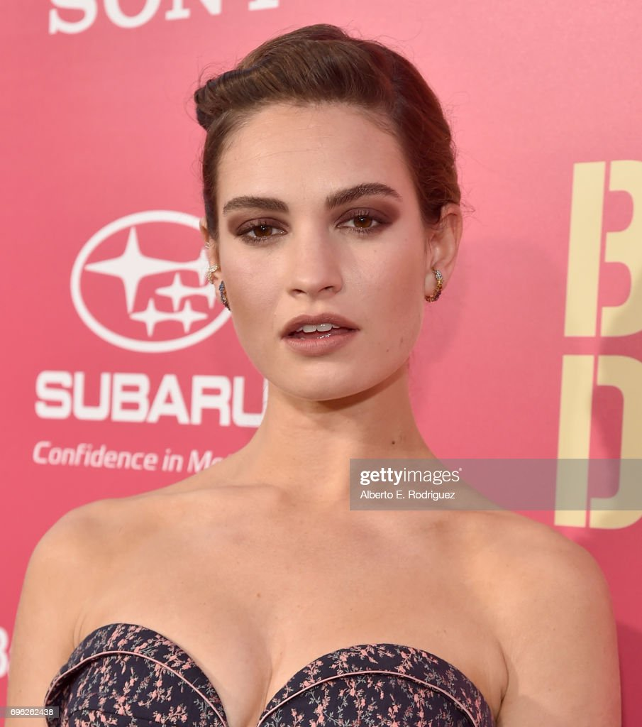 Actress Lily Jmaes attends the premiere of Sony Pictures' 'Baby Driver' at Ace Hotel on June 14, 2017 in Los Angeles, California.