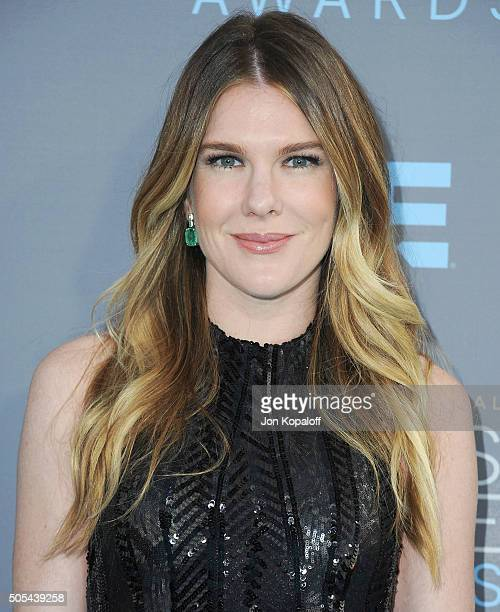 Actress Lily Rabe arrives at The 21st Annual Critics' Choice Awards at Barker Hangar on January 17 2016 in Santa Monica California