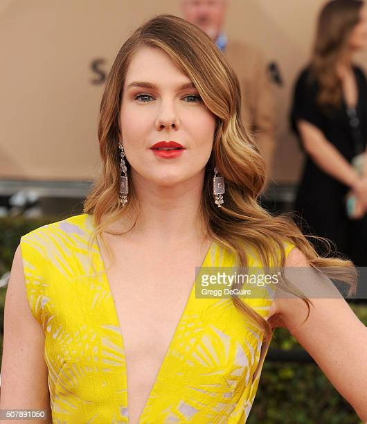 Actress Lily Rabe arrives at the 22nd Annual Screen Actors Guild Awards at The Shrine Auditorium on January 30 2016 in Los Angeles California
