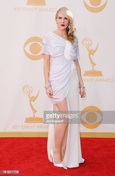 Actress Lily Rabe arrives at the 65th Annual Primetime Emmy Awards at Nokia Theatre LA Live on September 22 2013 in Los Angeles California