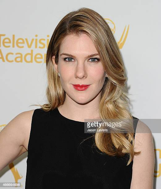 Actress Lily Rabe attends an evening with the women of American Horror Story at The Montalban on March 17 2015 in Hollywood California