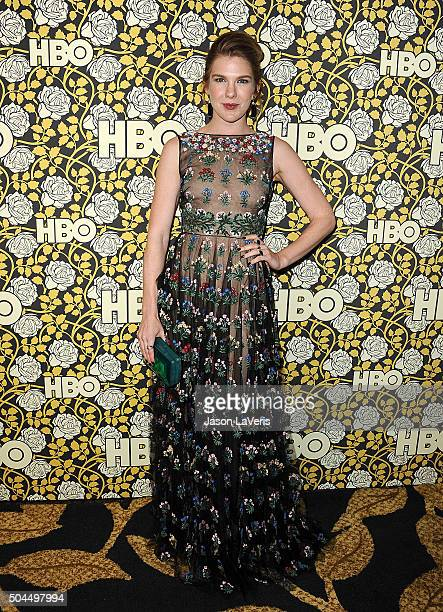 Actress Lily Rabe attends HBO's post 2016 Golden Globe Awards party at Circa 55 Restaurant on January 10 2016 in Los Angeles California