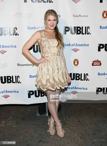 Actress Lily Rabe attends the 2010 Public Theater Gala at the Delacorte Theater on June 21 2010 in New York City