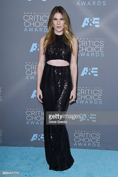 Actress Lily Rabe attends the 21st Annual Critics' Choice Awards at Barker Hangar on January 17 2016 in Santa Monica California