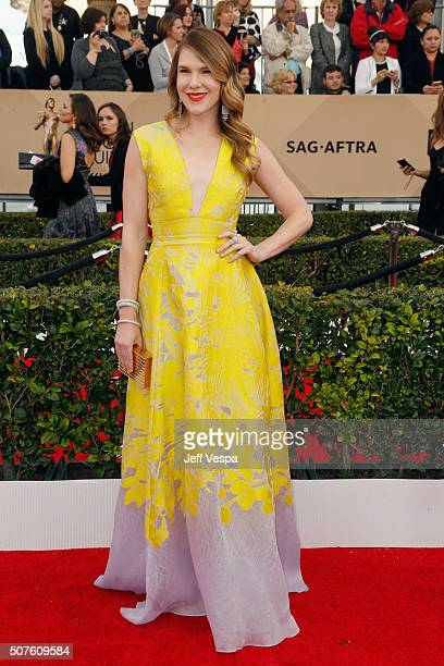 Actress Lily Rabe attends the 22nd Annual Screen Actors Guild Awards at The Shrine Auditorium on January 30 2016 in Los Angeles California