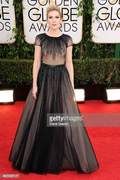 Actress Lily Rabe attends the 71st Annual Golden Globe Awards held at The Beverly Hilton Hotel on January 12 2014 in Beverly Hills California