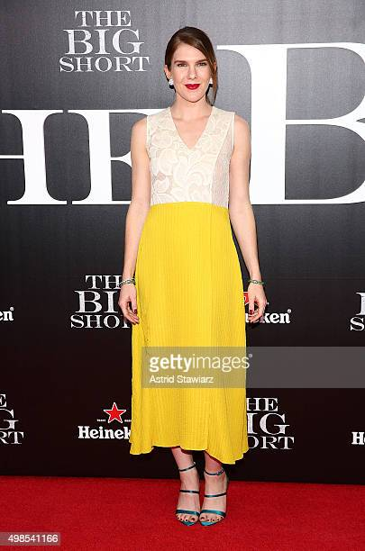 Actress Lily Rabe attends The Big Short New York screening Ziegfeld Theater on November 23 2015 in New York City