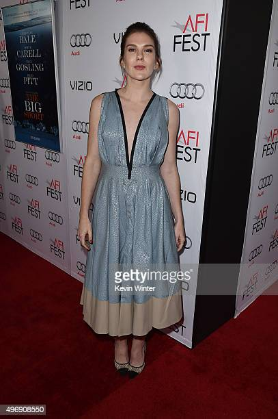 """Actress Lily Rabe attends the closing night gala premiere of Paramount Pictures' """"The Big Short"""" during AFI FEST 2015 at TCL Chinese Theatre on..."""