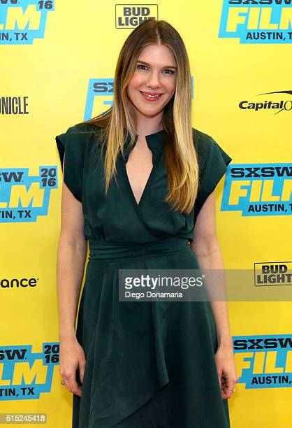 Actress Lily Rabe attends the premiere of Miss Stevens during the 2016 SXSW Music Film Interactive Festival at Vimeo on March 12 2016 in Austin Texas