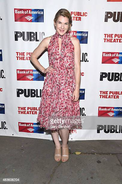 Actress Lily Rabe attends The Public Theater's Opening Night Of 'Cymbeline' at Delacorte Theater on August 10 2015 in New York City