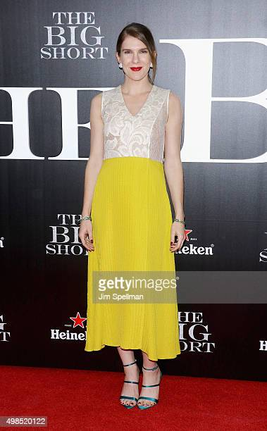 """Actress Lily Rabe attends the """"The Big Short"""" New York premiere at Ziegfeld Theater on November 23, 2015 in New York City."""