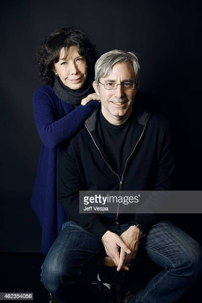 Actress Lily Tomlin and director/writer Paul Weitz of 'Grandma' pose for a portrait at the Village at the Lift Presented by McDonald's McCafe during...