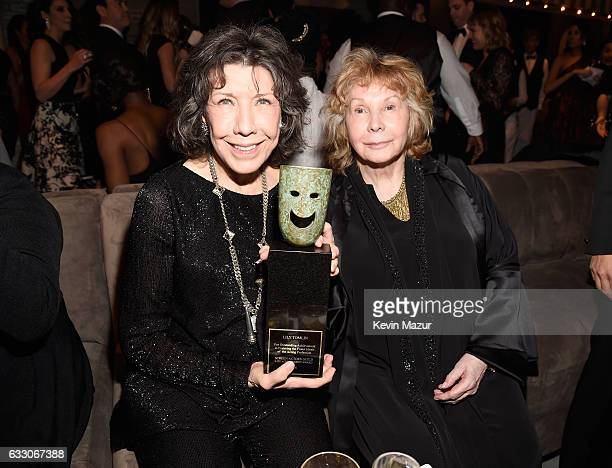 Actress Lily Tomlin and writer Jane Wagner attend People And EIF's Annual Screen Actors Guild Awards Gala at The Shrine Auditorium on January 29,...