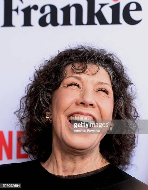 Actress Lily Tomlin arrives at the Netflix Original Series Grace Frankie Season 2 premiere at the Harmony Gold Theater on May 1 2016 in Los Angeles...