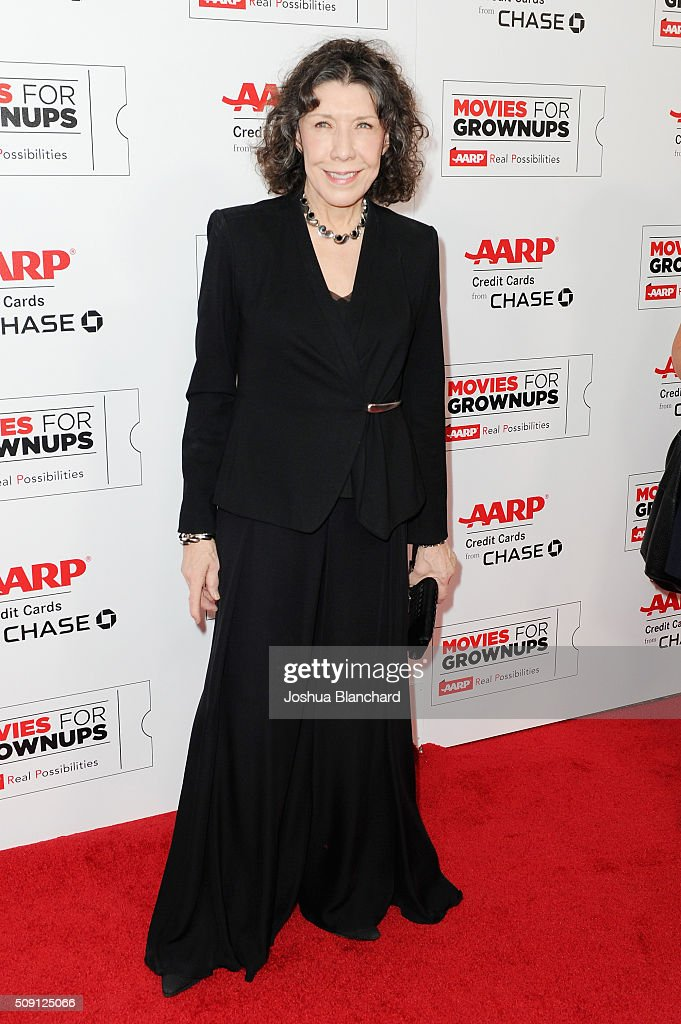 Actress Lily Tomlin attends AARP's 15th Annual Movies For Grownups Awards at the Beverly Wilshire Four Seasons Hotel on February 8, 2016 in Beverly Hills, California.