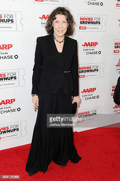 Actress Lily Tomlin attends AARP's 15th Annual Movies For Grownups Awards at the Beverly Wilshire Four Seasons Hotel on February 8 2016 in Beverly...