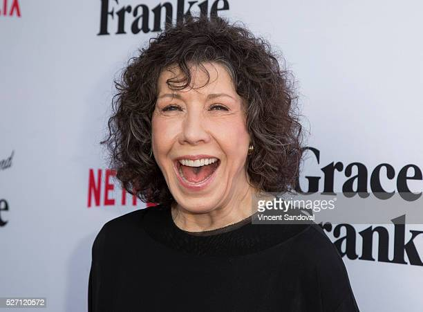 Actress Lily Tomlin attends Netflix Original Series Grace Frankie season 2 premiere at Harmony Gold on May 1 2016 in Los Angeles California