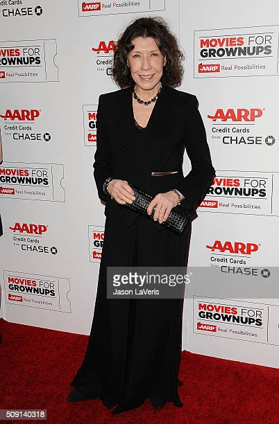 Actress Lily Tomlin attends the 15th annual Movies For Grownups Awards at the Beverly Wilshire Four Seasons Hotel on February 8 2016 in Beverly Hills...