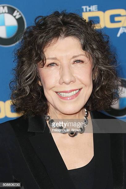 Actress Lily Tomlin attends the 68th Annual Directors Guild Of America Awards at the Hyatt Regency Century Plaza on February 6, 2016 in Los Angeles,...