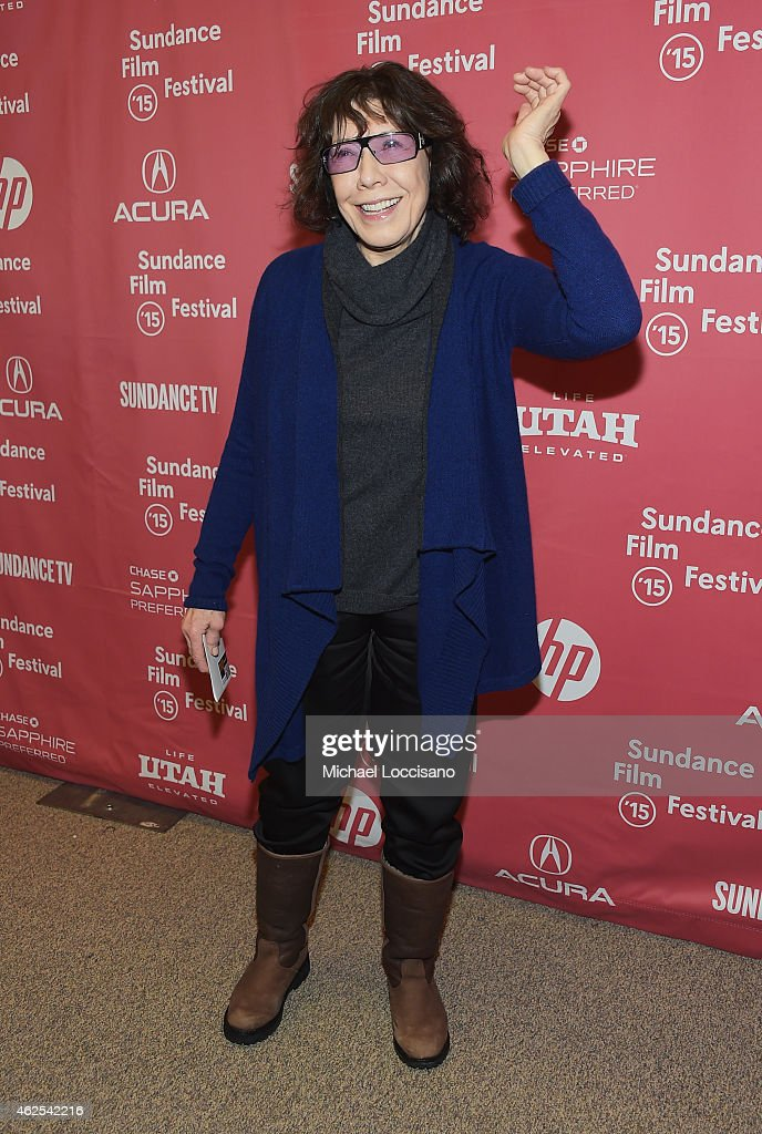 Actress Lily Tomlin attends the 'Grandma' premiere during the 2015 Sundance Film Festival on January 30, 2015 in Park City, Utah.