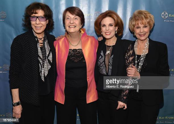 Actress Lily Tomlin Dr Helen Caldicott producer Kat Kramer and producer Karen Kramer attend the 5th anniversary of 'Kat Kramer's Films That Changed...