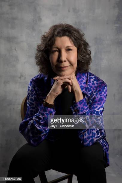Actress Lily Tomlin from 'Grace and Frankie' is photographed for Los Angeles Times on March 16 2019 during PaleyFest at the Dolby Theatre in...