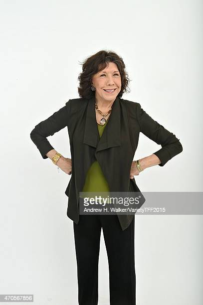 Actress Lily Tomlin from 'Grandma' appears at the 2015 Tribeca Film Festival Getty Images Studio on April 20 2015 in New York City