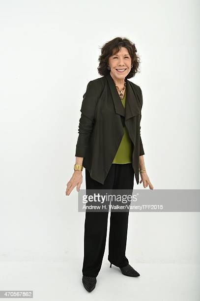 Actress Lily Tomlin from 'Grandma' appears at the 2015 Tribeca Film Festival Getty Images Studio on April 20, 2015 in New York City.