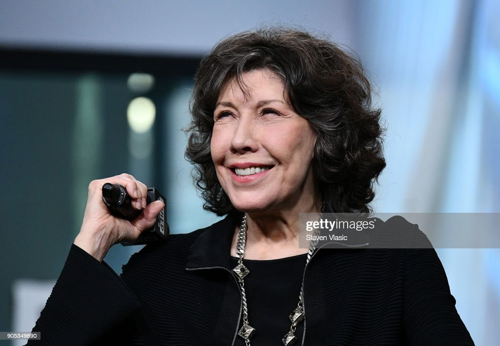 Actress Lily Tomlin visits Build Series to discuss Season 4 of Netflix's 'Grace and Frankie' at Build Studio on January 15, 2018 in New York City.