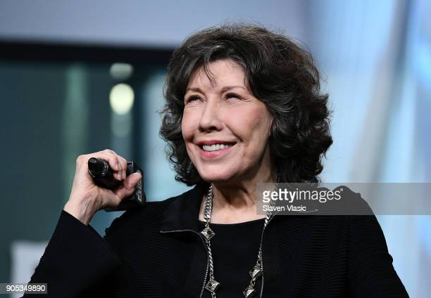 Actress Lily Tomlin visits Build Series to discuss Season 4 of Netflix's Grace and Frankie at Build Studio on January 15 2018 in New York City
