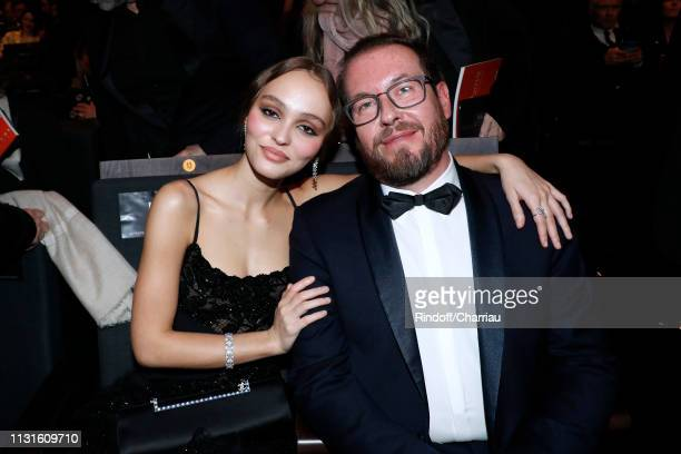 Actress LilyRose Depp and her agent Laurent Gregoire attend the Cesar Film Awards 2019 at Salle Pleyel on February 22 2019 in Paris France