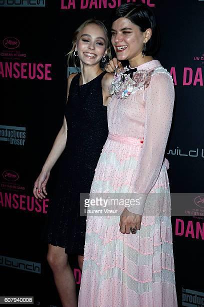 Actress LilyRose Depp and Soko attend 'la Danseuse' Paris Premiere at Cinema Gaumont Opera on September 19 2016 in Paris France
