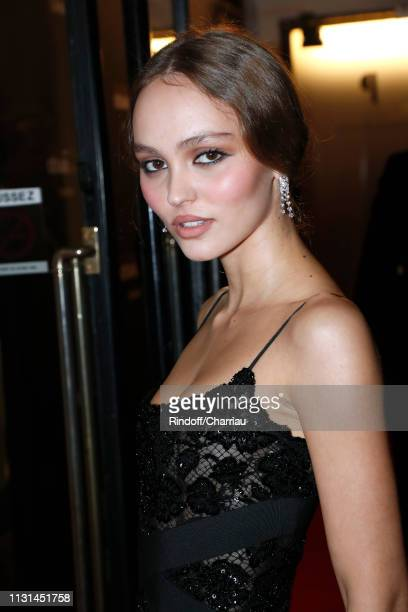 Actress LilyRose Depp attends the Cesar Film Awards 2019 at Salle Pleyel on February 22 2019 in Paris France