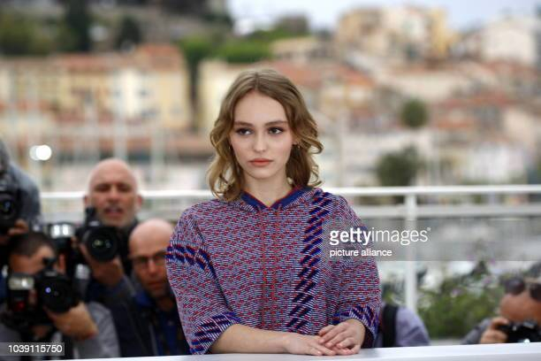 Actress LilyRose Depp attends the photocall of The Dancer during the 69th Annual Cannes Film Festival at Palais des Festivals in Cannes France on 13...