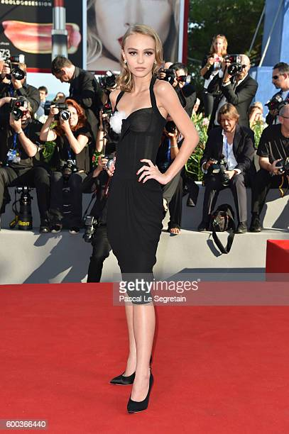 Actress Lily-Rose Depp attends the premiere of 'Planetarium' during the 73rd Venice Film Festival at Sala Grande on September 8, 2016 in Venice,...