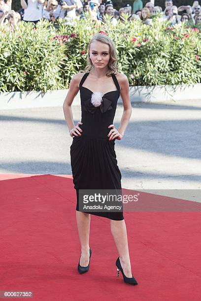 Actress LilyRose Depp attends the premiere of the movie 'Planetarium' during 73rd Venice Film Festival at Venice Lido in Venice Italy on September 08...