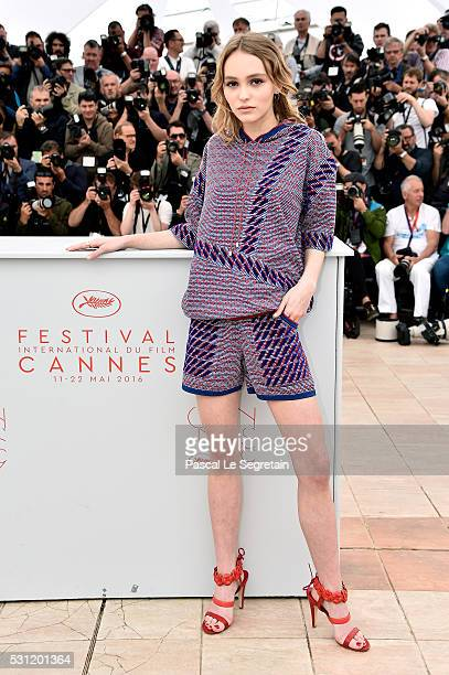 Actress LilyRose Depp attends the 'The Dancer' Photocall during the 69th annual Cannes Film Festival at the Palais des Festivals on May 13 2016 in...