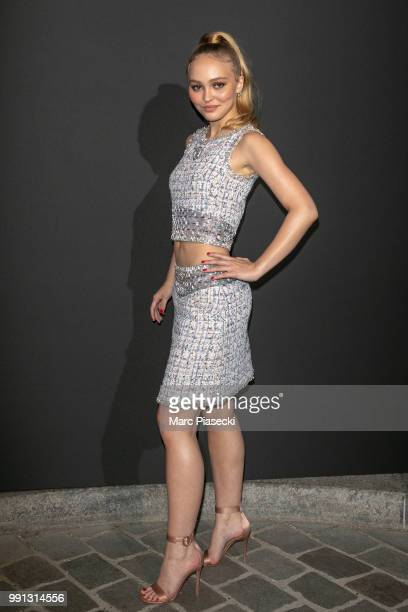 Actress LilyRose Depp attends the Vogue Foundation Dinner Photocall as part of Paris Fashion Week Haute Couture Fall/Winter 20182019 at Musee...